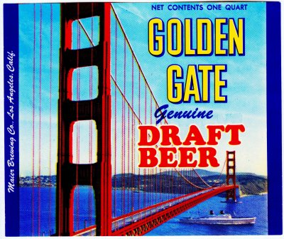goldengate beer label