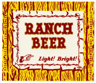 ranch beer label