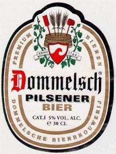 dommelsch beer label