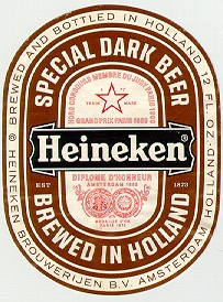 heineken beer label