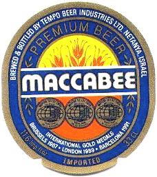 maccabee beer label