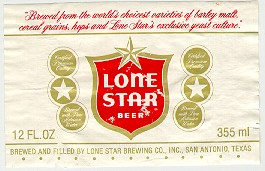 lonestar beer label