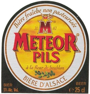 meteor pils beer label
