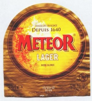 meteor lager beer label