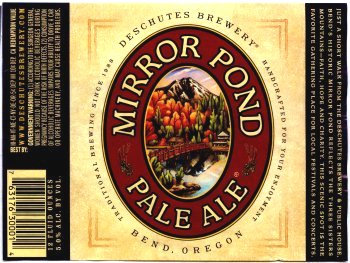mirror pond pale ale label
