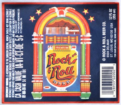 rock n roll beer label