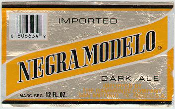modelo beer label
