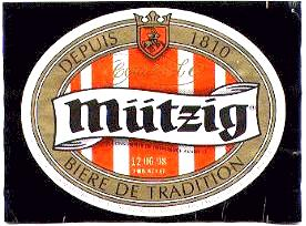 mutzig beer label