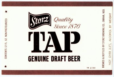 storz tap beer label