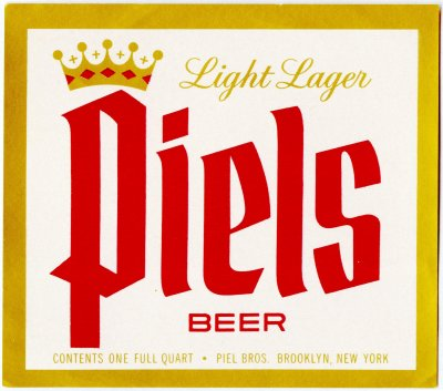 piels beer label