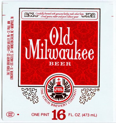 old milwaukee beer label