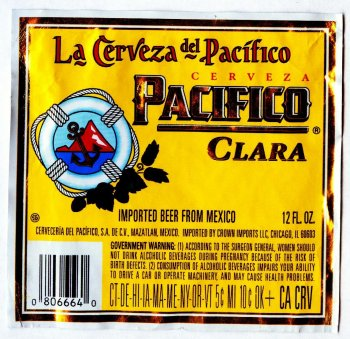 pacifico beer label