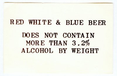red white n blue beer label