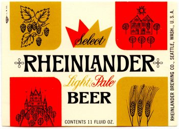 rheinlander beer label