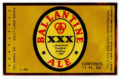ballantine ale label