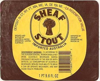 Sheaf Stout label