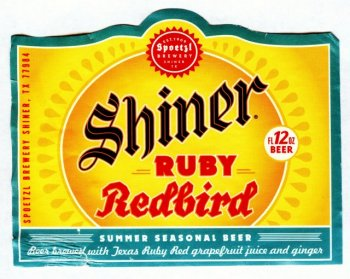 shiner redbird label