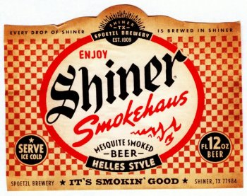shiner smokehouse label