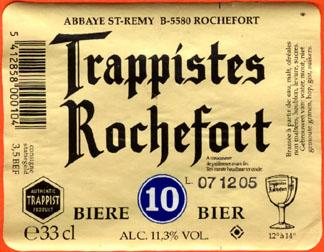 Trappistes Rochefort Beer Label