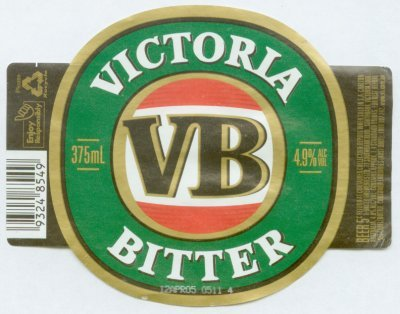 Victoria Bitter Beer Label