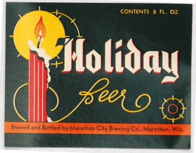 holiday beer label
