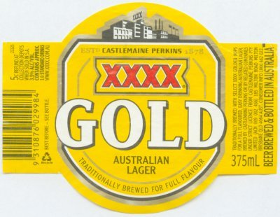 XXXX Beer Label