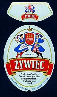 Zywiec beer label