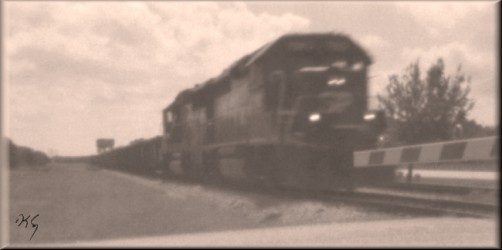 pinhole photograph gallery, locomotive