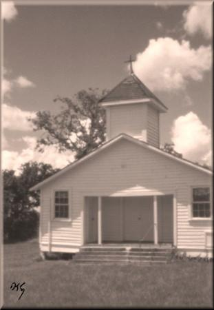 pinhole photograph gallery, country church